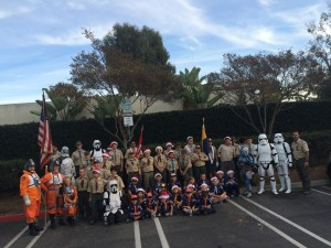 Troop 441 Downey Christmas Parade 2015 storm troopers