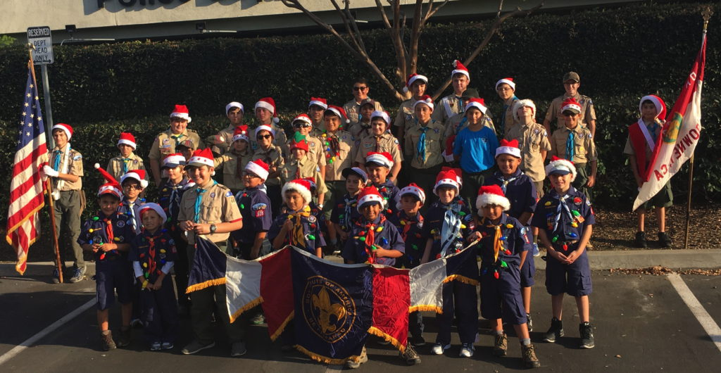 Troop 441 and Pack 805 Christmas Parade Participants
